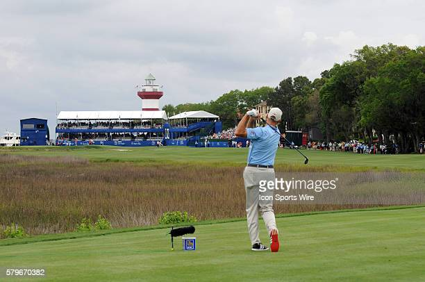 April 2015 RBC Heritage Presented by Boeing: Past Champion and Major winner Jim Furyk charges to the leaders during the second round of the...