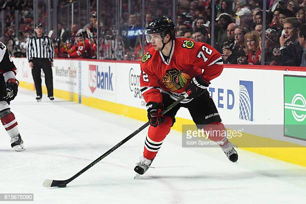 Chicago Blackhawks Left Wing Artemi Panarin [7873] in action during a game between the Chicago Blackhawks and the Arizona Coyotes at the United...
