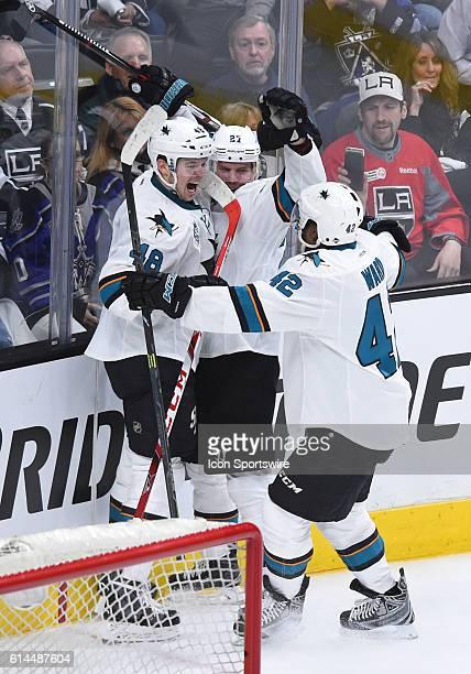 San Jose Sharks Left Wing Tomas Hertl [9372] San Jose Sharks Left Wing Joonas Donskoi [7845] and San Jose Sharks Right Wing Joel Ward [2737]...