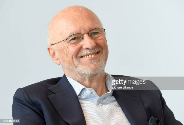 Dirk Rossmann owner and founder of the drugstore chain Rossmann smiles during a press conference of the Rossmann GmbH Photo Holger Hollemann/dpa