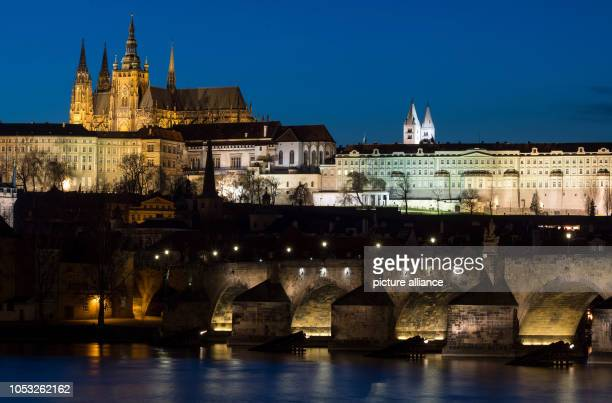 View of Charles Bridge and Prague Castle with St Vitus Cathedral taken at the blue hour On 28 October 1918 Czechoslovakia declared its independence...