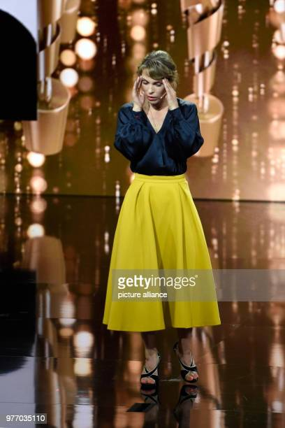 68th German Film Prize Lola award ceremony award show Actress and euologist of the evening Anneke Kim Sarnau on stage during the award ceremony Photo...