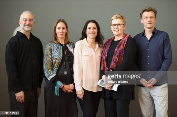 Howard Oransky curator Stephanie Rosenthal museum director Rachel Cecilia Mendieta niece of Ana Mendita Lynn Lukkas curator and Thomas Oberender...