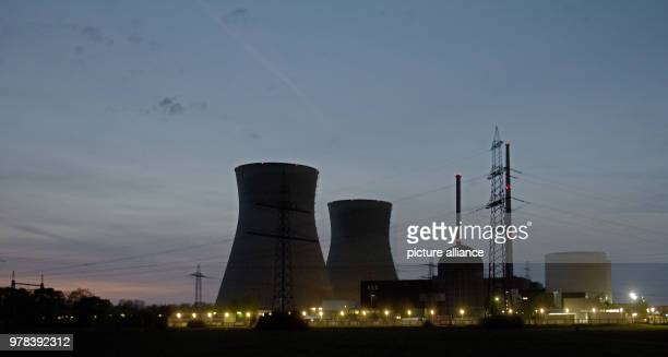 No steam is ascending from the cooling towers of the nuclear power station After block B was turned off end of 2017 in the course of phasing out...