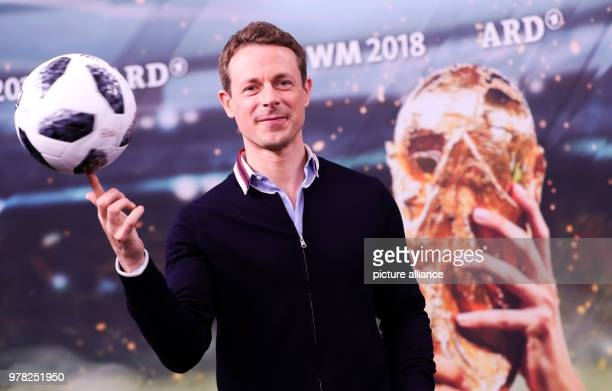 ARD host for the soccer world cup 2018 in Russia Alexander Bommes at a photo shoot before a press conference by ARD and ZDF regarding the world cup...