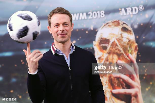 Alexander Bommes ARD presenter for the soccer World Cup 2018 in Russia during a photocall prior to a press conference of the German TV channels ARD...