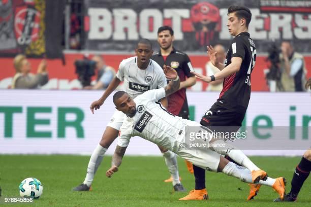 Soccer Bundesliga Bayer Leverkusen vs Eintracht Frankfurt at the BayArenaLeverkusen's Kai Havertz and Frankfurt's KevinPrince Boateng vie for the...
