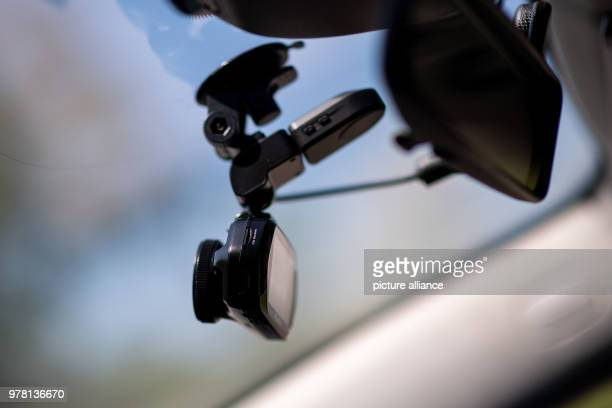A dashcam of camera producer 'TrueCam' inside a police vehicle during a press event The freeway police in North RhineWestphalia is going to be...