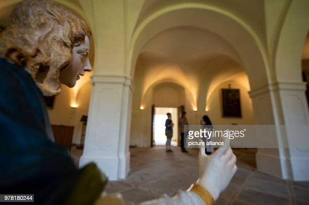 Inside the chapter room at St Marienthal Abbey during an open day The 'Ostritzer Friedensfest'  is being held in opposition to a neoNazi festival in...