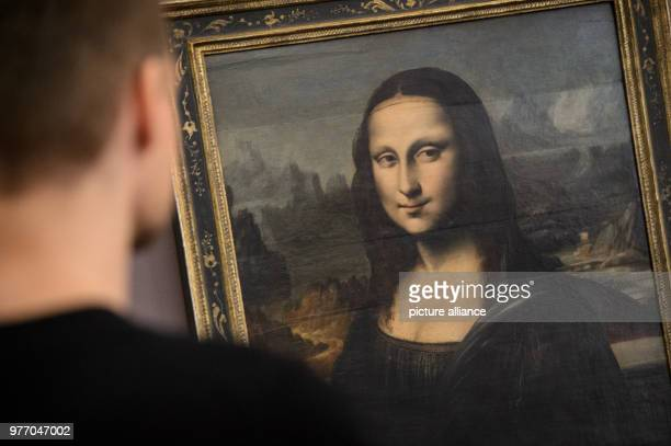 A man standing in front of a replica of the 'Mona Lisa' from Leonardo da Vinci The gallery was opened of the 1 May 1843 as 'museum of educated art'...