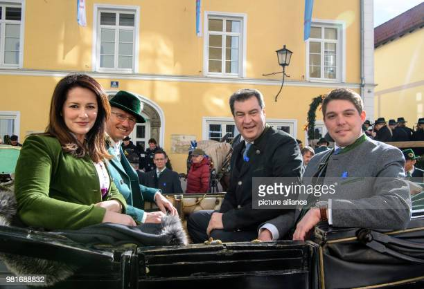 Michaela Kaniber Minister of Agriculture for the state of Bavaria Christian Kegel Mayor of Traunstein Markus Soeder Premier of Bavaria and Siegfried...