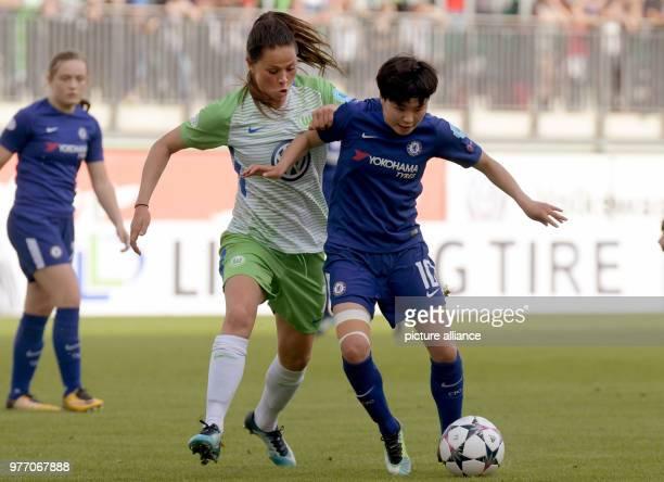 29 April 2018 Germany Wolfsburg Soccer Women Champions League KO Round Semifinal Return Match VfL Wolfsburg vs LFC Chelsea at the AOK Stadium...