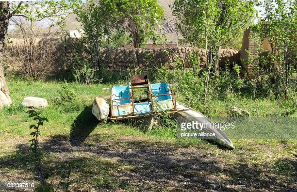 A rusty pedal boat lies in the backyard of the meanwhile closed beach hotel Fanus With the gradual drying up of Lake Urmia and the lack of tourists...