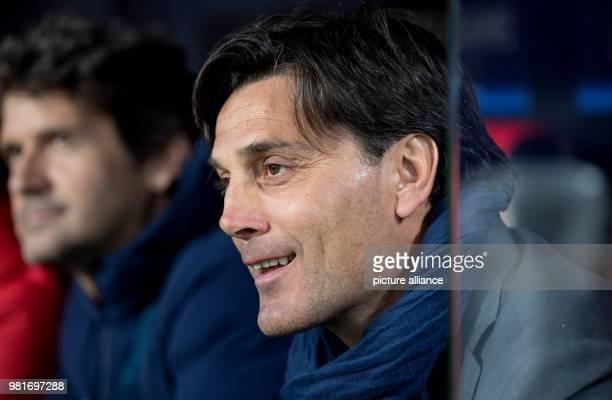 03 April 2018 Spain Sevilla Champions League FC Sevilla vsFC Bayern Munich KO Round Quarterfinal First leg at Ramon Sanchez Pizjuan Stadium...