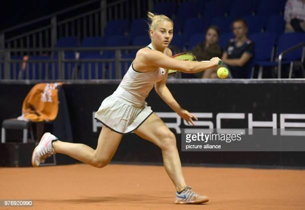 Tennis WTATour Stuttgart Singles Ladies The Ukraine's Marta Kostyuk playing against France's Garcia Photo Marijan Murat/dpa
