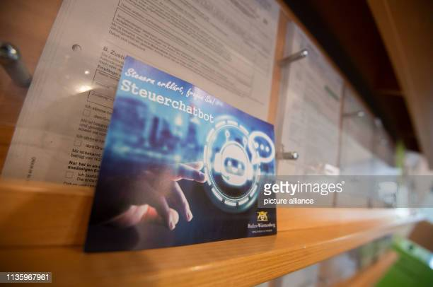 08 April 2019 BadenWuerttemberg Bruchsal A map indicates the tax chat offer of the tax administration BadenWürttemberg Photo Marijan Murat/dpa