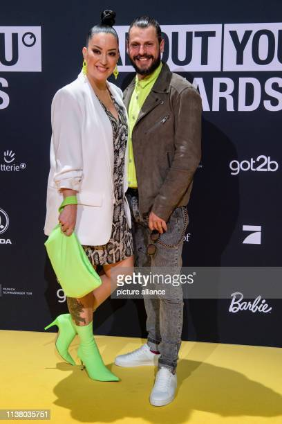 Manuel Cortez actor and Miyabi Kawai fashion designer come to the presentation of the About you awards to the social media personalities of the year...