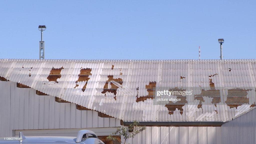 Bomb blasting damages building : News Photo