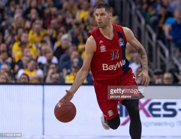 Basketball Bundesliga ALBA Berlin FC Bayern Munich main round 30th matchday in the MercedesBenz Arena Stefan Jovic from FC Bayern Munich in action...