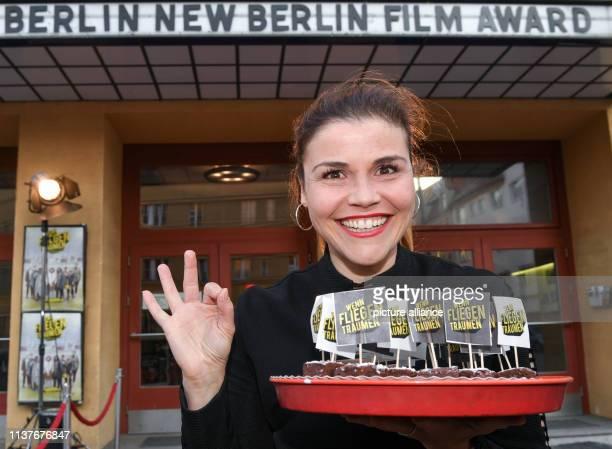 Katharina Wackernagel comes to the premiere of the film Wenn Fliegen träumen at the film festival Achtung Berlin in the cinema Babylon The road movie...