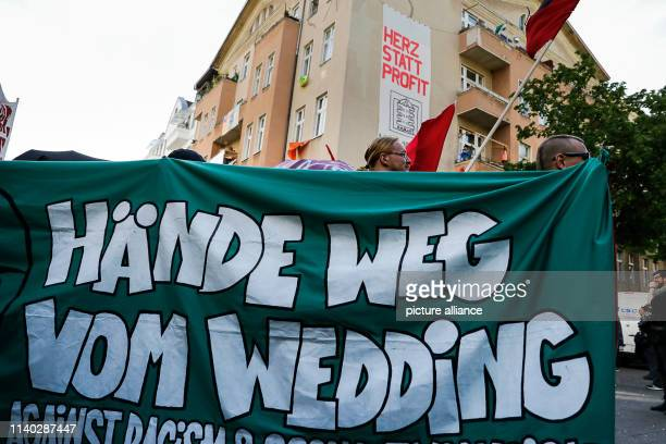 April 2019, Berlin: Participants of a demonstration walk through the district of Wedding. The demonstration of left-wing groups on the eve of 1 May...