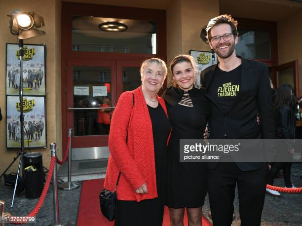 Sabine Wackernagel Katharina Wackernagel and Jonas Grosch come to the premiere of the film Wenn Fliegen träumen at the film festival Achtung Berlin...