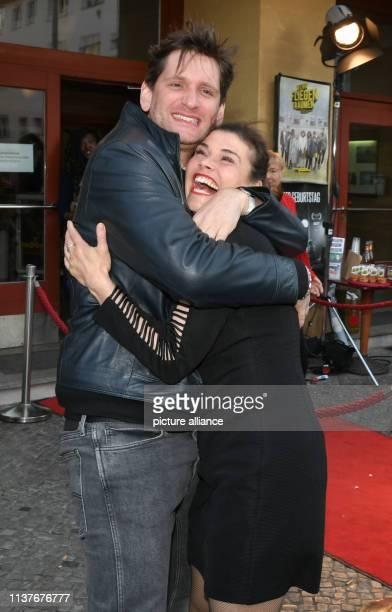 Sebastian Schwarz and Katharina Wackernagel come to the premiere of the film Wenn Fliegen träumen at the film festival Achtung Berlin in the cinema...