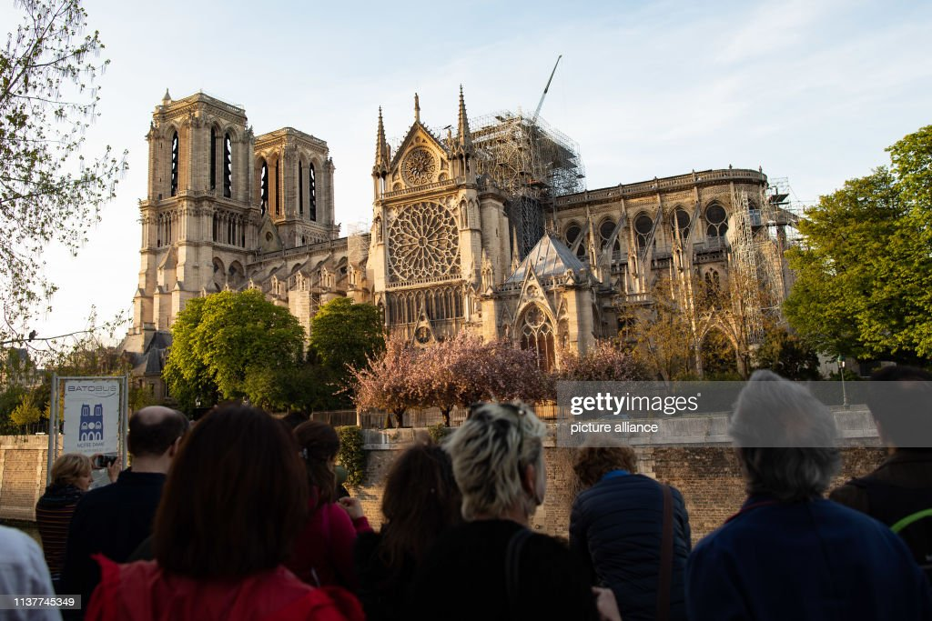 After the devastating fire at Notre-Dame Cathedral : News Photo