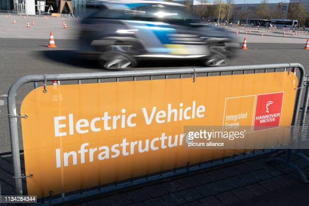 Electrified vehicles drive on a test track on the exhibition grounds From 1 to 5 April everything at Hannover Messe will revolve around networking...