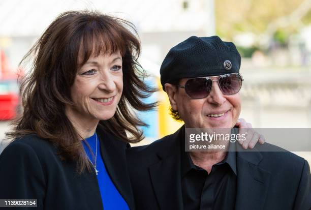 Klaus Meine singer of the band Scorpions and his wife Gabi come to a reception of the city of Hannover for the 75th birthday of former chancellor...
