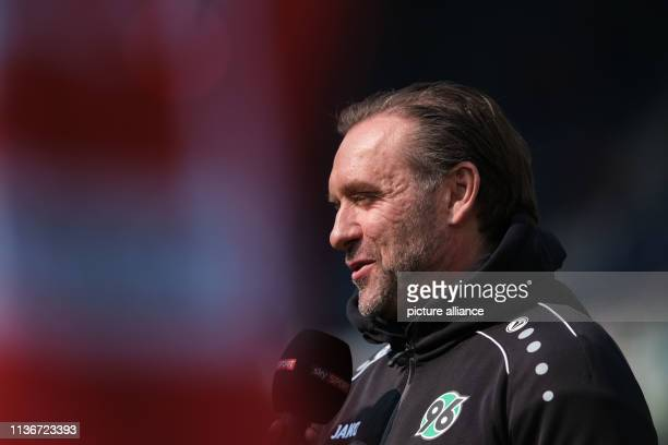 Soccer Bundesliga 29 Matchday Hannover 96 Bor Mönchengladbach in the HDI Arena Hanover's coach Thomas Doll is in the arena before the game Photo...