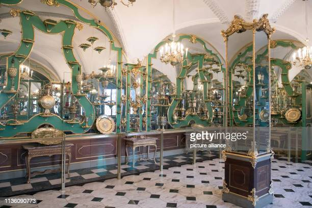 The SilverGilt Room in the Historic Green Vault in the Dresden Palace of the Dresden State Art Collections Photo Sebastian Kahnert/dpaZentralbild/ZB