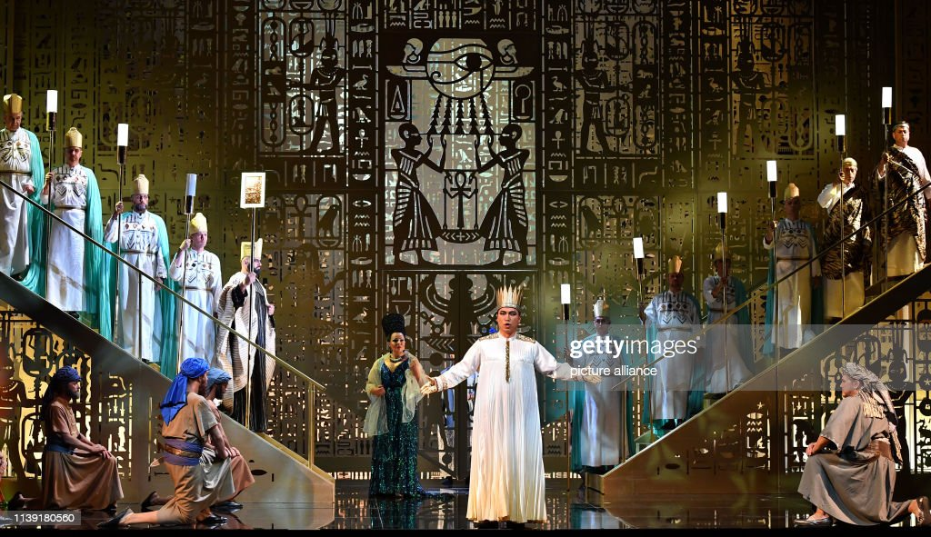 "DEU: Opera ""Aida"" At The Erfurt Theatre"