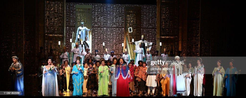 "DEU: Opera ""Aida"" At The Erfurt Theatre"