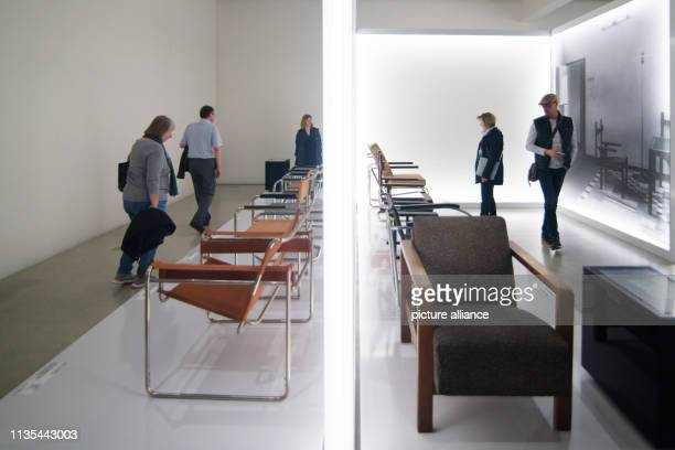 Visitors can view furniture in the newly opened Bauhaus Museum The new Bauhaus Museum Weimar opened on Friday evening with the permanent exhibition...