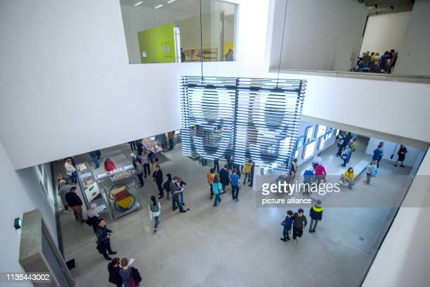 Visitors stand in the newly opened Bauhaus Museum The new Bauhaus Museum Weimar opened on Friday evening with the permanent exhibition The Bauhaus...
