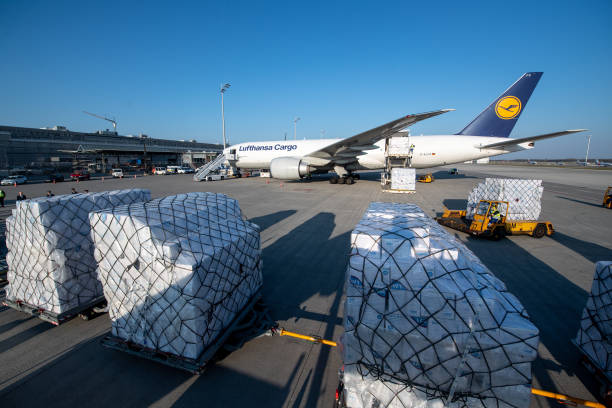 DEU: Coronavirus - Protective Masks Arrive In Munich From Shanghai