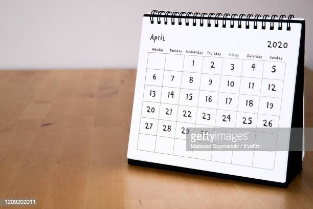 april 2020 calendar - month page - 2020 stock pictures, royalty-free photos & images