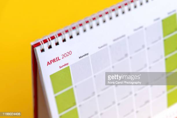 april 2020 calendar - 2020 stock pictures, royalty-free photos & images