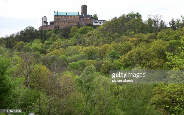 April 2020, Thuringia, Eisenach: Not far from the Wartburg is the Elisabethplan, where St. Elisabeth probably founded a hospital in 1226. Churches...