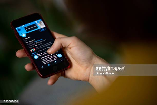 April 2021, Berlin: A smartphone screen shows the timeline in the Twitter app. After a break of three and a half years, Twitter will once again...