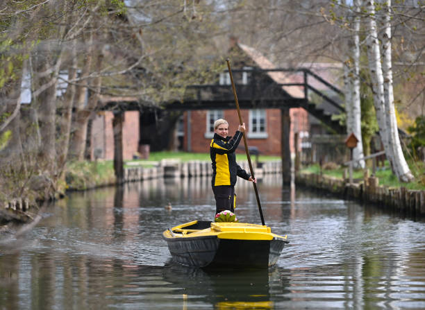 DEU: Mail Delivery By Barge In The Spree Forest