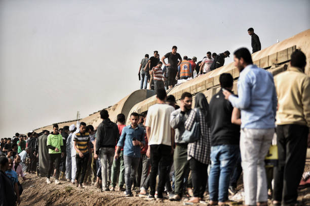 EGY: Train Derails In Egypt