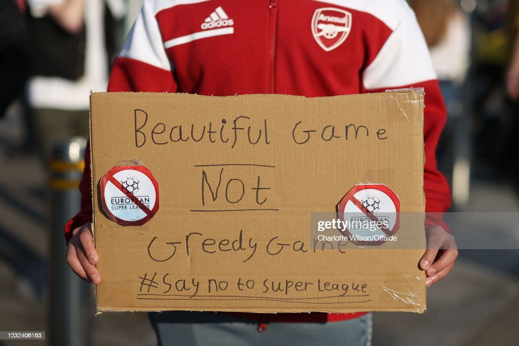 Fans Respond To News Of Football Super League : News Photo