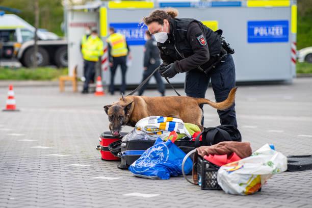 DEU: Major Police Check On Motorway