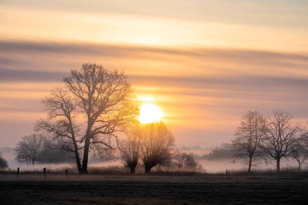 DEU: Sunrise In Lower Saxony