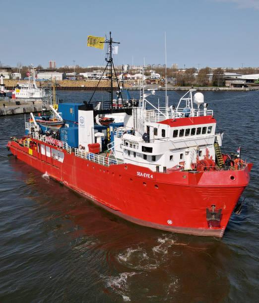 DEU: Sea Rescue Ship Sea-Eye 4 On It's Way Towards The Mediterranean
