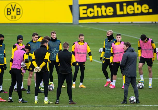 DEU: CL - Training Borussia Dortmund