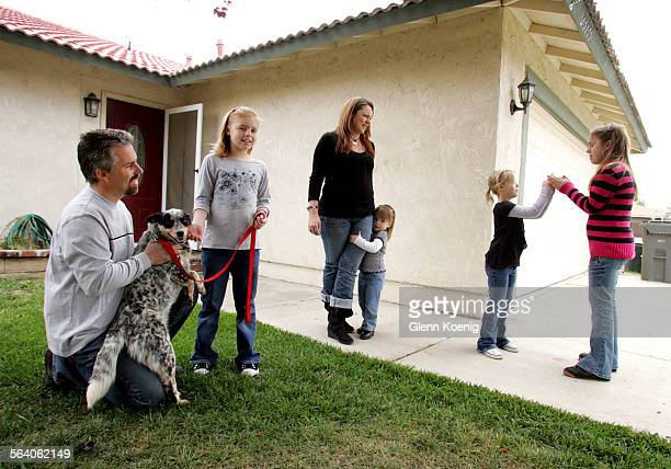 April 21 2007 Left to right Richard Bucchbinder and his family 10 year–old Alyssa his wife Tina 2 year–old Alexa Carlie age 6 and 12 year–old Chelsey...