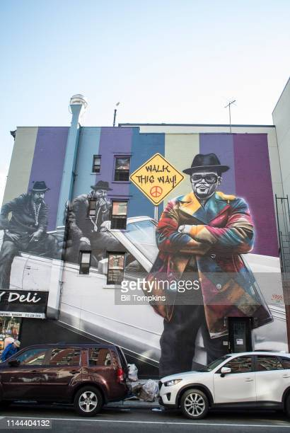RUN DMC mural by artist KOBRA photographed on April 21 2019 in New York City MANDATORY MENTION OF THE ARTIST UPON PUBLICATION RESTRICTED TO EDITORIAL...